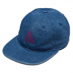 Huf Formless Denim Triple Triangle Hat - Indigo