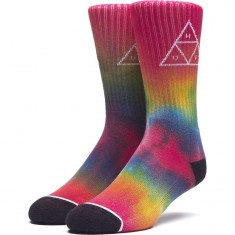 Huf Tiedye Triple Triangle Socks - Rainbow