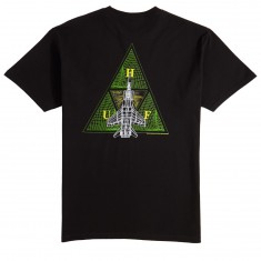 Huf Disaster Ops Triple Triangle T-Shirt - Black