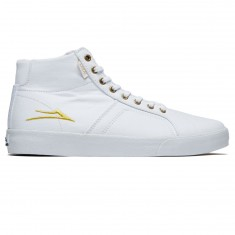 Lakai Flaco High Shoes - White Canvas