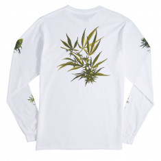 Huf Tropical Plants Long Sleeve T-Shirt - White