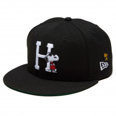 13011809f7797 HUF x Peanuts Joe Cool New Era Hat - Black - 7 1 4