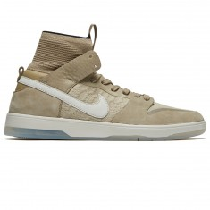 Nike SB Flyknit Zoom Dunk High Elite Shoes - Khaki/Light Bone/Black