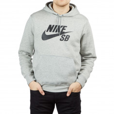 Nike SB Icon Essential Hoodie - Dark Grey Heather Black 2c2a40fbe7fa6