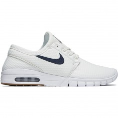 Nike Stefan Janoski Max Shoes - Summit White/Thunder Blue Gum/Brown