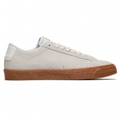 Nike SB Air Zoom Blazer Low Shoes - Summit White/Medium Brown Gum