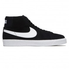 Nike SB Zoom Blazer Mid Shoes - Black/White/White