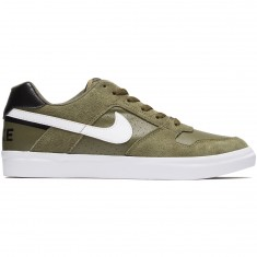 Nike SB Delta Force Vulc Shoes - Medium Olive/White/Black
