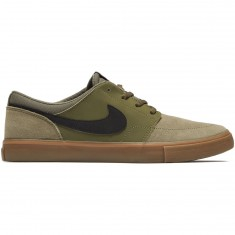 Nike SB Solarsoft Portmore II Shoes - Medium Olive/Black