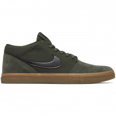 Nike SB Solarsoft Portmore II Mid Shoes - Sequoia/Black Gum/Medium Brown