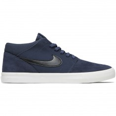 Nike SB Solarsoft Portmore II Mid Shoes - Thunder Blue/Black/Summit White