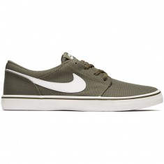 Nike SB Solarsoft Portmore II Shoes - Medium Olive/Summit White