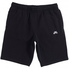 Nike SB Icon Fleece Shorts - Black/White