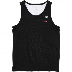Nike SB Dry Mesh Tank Top - Black/White/Solar Red