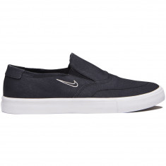Nike SB Portmore II Solarsoft Slip Shoes - Black/Black/Light Bone