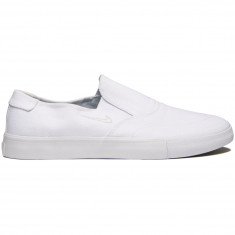 Nike SB Portmore II Solarsoft Slip Shoes - White/Light Bone