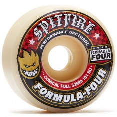 Spitfire Formula Four 101du Conical Full Skateboard Wheels - 52