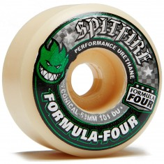 Spitfire Formula Four 101D Conical Skateboard Wheels - Green - 53mm