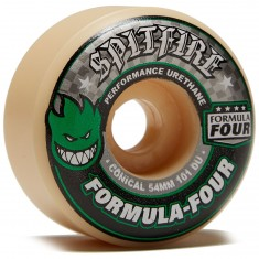Spitfire F4 Conical 101a Skateboard Wheels - Natural - 54mm
