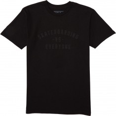 Real Vs Everyone T-Shirt - Black/Black