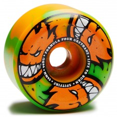 Spitfire F4 99 Afterburners Skateboard Wheels - Orange/Green - 56mm