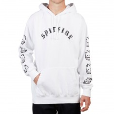 Spitfire Old E Embroidered Hoodie - White/Black