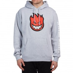 Spitfire Bighead Fill Hoodie - Athletic Heather/Red/Black