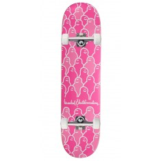 Krooked Krouded Pricepoint Pink Skateboard Complete - 7.75""