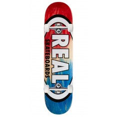 "Real Angle Dip Oval Skateboard Complete - 7.75"" - Red/Blue"