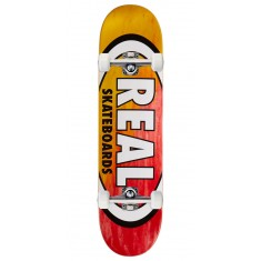 "Real Angle Dip Oval Skateboard Complete - 8.06"" - Yellow/Red"