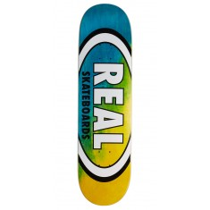 "Real Angle Dip Oval Skateboard Deck - 8.25"" - Blue/Yellow"
