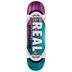 "Real Angle Dip Oval Skateboard Complete - 8.38"" - Purple/Teal"