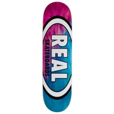 "Real Angle Dip Oval Skateboard Deck - 8.50"" - Red/Lite Blue"