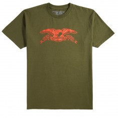 Anti-Hero Basic Eagle T-Shirt - Military Green/Red