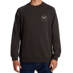 Brixton Wheeler Crew Sweatshirt - Washed Black