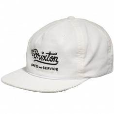 Brixton Mach HP Snapback Hat - Off White