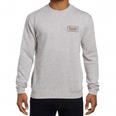 Brixton Palmer Crew Fleece Sweatshirt - Heather Stone
