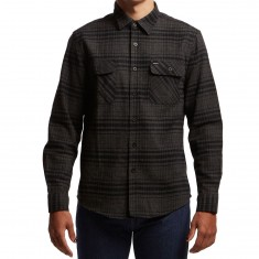 Brixton Bowery Longsleeve Flannel Shirt - Black Heather/Charcoal
