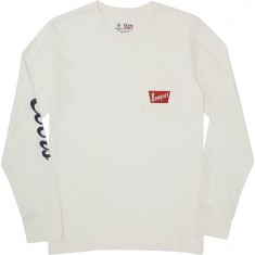 Brixton X Coors Banquet Long Sleeve Premium T-Shirt - Off White