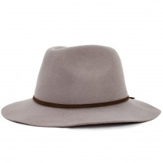 Brixton Wesley Fedora Hat - Natural/Dark Brown - LG
