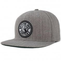 Brixton Rival Snapback Hat - Light Heather Grey/Off White