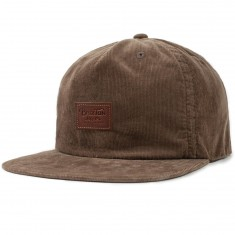 Brixton Grade II Unstructured Snapback Hat - Light Brown