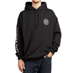 Brixton Oath SV Fleece Hoodie - Black/White