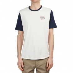 Brixton Novato Shirt - Off White/Navy