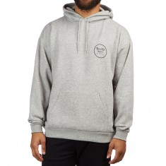 Brixton Wheeler Hoodie - Heather Grey/Black