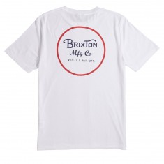 Brixton Wheeler II T-Shirt - White/Red