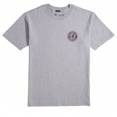 Brixton Rival II T-Shirt - Heather Grey/Red