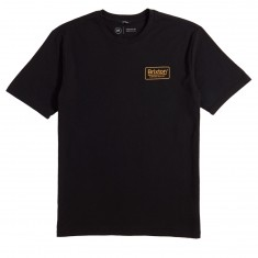 Brixton Palmer T-Shirt - Black/Gold