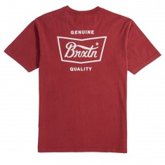Brixton Stith T-Shirt - Burgundy