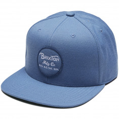 Brixton Wheeler Snapback Hat - Grey Blue